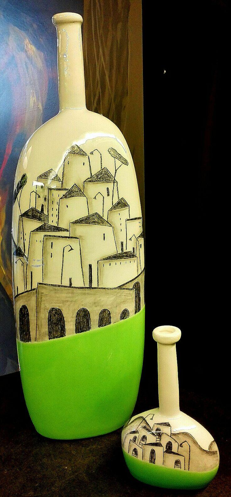 Green Bottle town