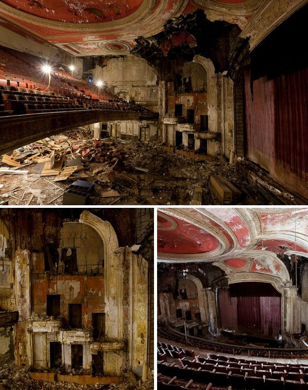 Forgotten Paramount Theater, Newark, New Jersey    Opened on Market Street in 1895 and later remodelled in the Art Deco style, the Newark Theater – as it was originally known – was one of the most popular attractions of downtown Newark.  Renamed the Paramount, it featured vaudeville (variety shows) and later film before the curtain fell for the final time on April 1, 1986.  Mae West set a box office record at the Paramount Theater in 1939 and a young Jerry Lewis worked there as an u