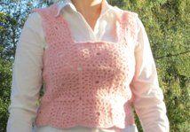 Vest made of crocheted squares. Heklet vest.