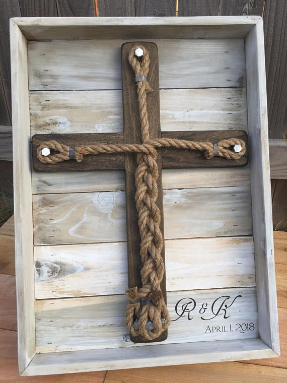 Wedding Unity Ceremony Framed Wooden Wedding Cross Alternative