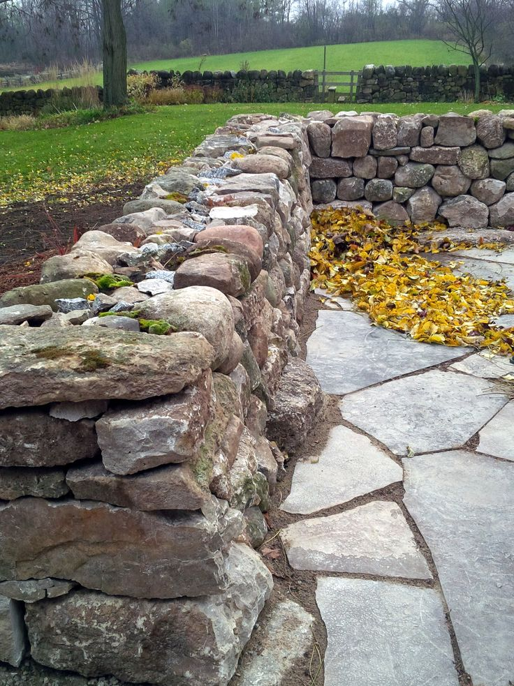 17 best images about drystone features retaining walls for Stone retaining wall design