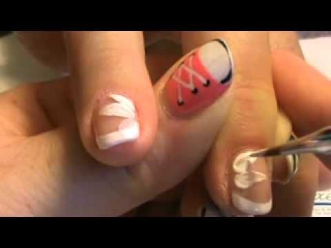 How to: Shellac French w/Contrasting flower