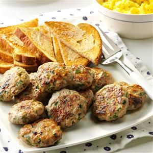 Apple-Sage Sausage Patties Recipe -Apple and sausage naturally go ...