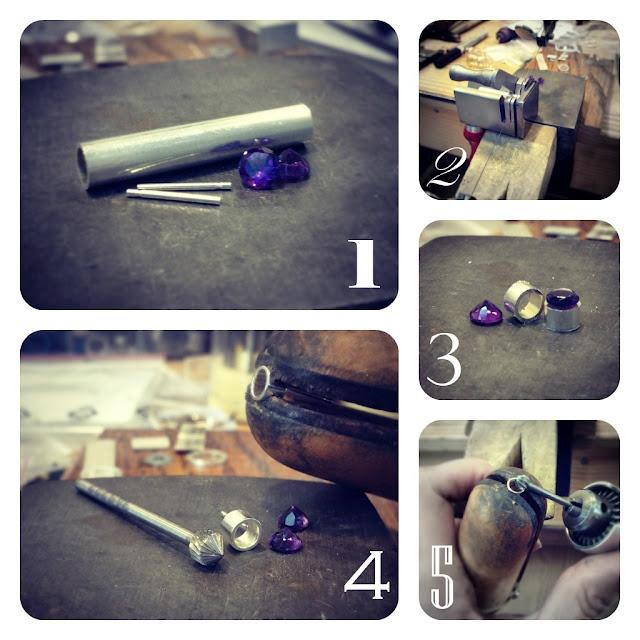 100 best bezel settings images on pinterest jewellery making jewelry making process amethyst bezel stud earrings solutioingenieria Choice Image
