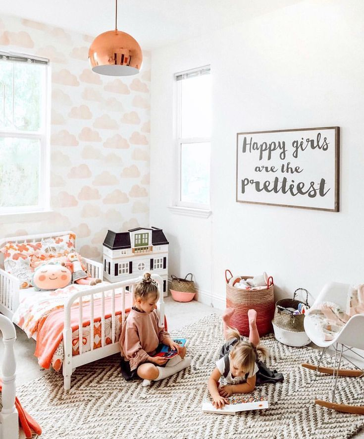 girly toddler room copper accents and the sweetest blush pink cloud rh pinterest com