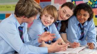 Image copyright                  Thinkstock                  Image caption                     The Centre Forum study looks at a range of factors surrounding education in England   White British pupils in England make less progress in school compared to other ethnic groups, a report suggests.  The Centre Forum says that while ahead at age five, this group slips to 13th place behind those of Chinese, Indian, Asian and black African heritage by the time they