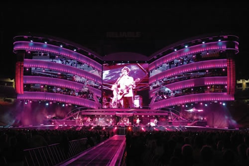 Stage for Rolling Stones' A Bigger Bang World Tour.