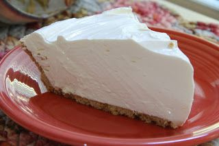 Lemonade Pie. It's creamy, it's fresh, it's summertime on a plate! So easy -  just 4 ingredients.