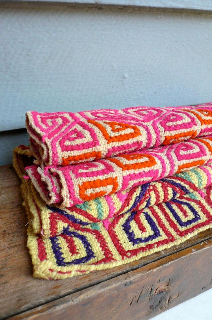 Vintage Mexican Textile Handwoven. $46.00, via Etsy.