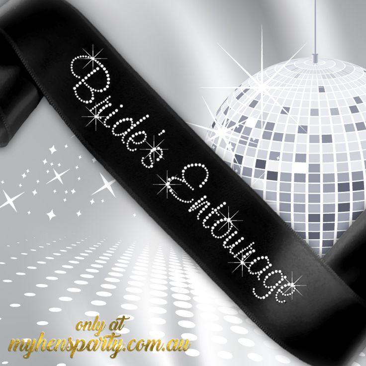 Bride's Entourage Sash - Diamante