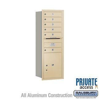 4C Horizontal Mailbox (Includes Master Commercial Lock) - 13 Door High Unit (48 Inches) - Single Column - 6 MB1 Doors / 1 PL5 - Sandstone - Rear Loading - Private Access by Salsbury Industries. $495.00. 4C Horizontal Mailbox (Includes Master Commercial Lock) - 13 Door High Unit (48 Inches) - Single Column - 6 MB1 Doors / 1 PL5 - Sandstone - Rear Loading - Private Access - Salsbury Industries - 820996414175