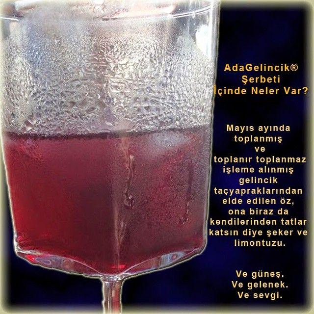 Ada Cafe® Bozcaada Gelincik Şerbeti; Ada Cafe'nin Bozcaada'ya bir armağanı... Ada Gelincik ® şerbeti; içindekiler adacafebozcaada's photo on Instagram