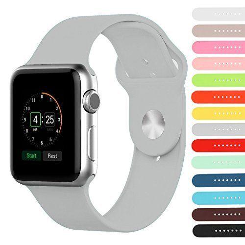 StrapsCo Premium Rubber Strap for Apple Sport Watch Band - 42mm Short Medium Length in Grey StrapsCo via https://www.bittopper.com/item/strapsco-premium-rubber-strap-for-apple-sport-watch-band/