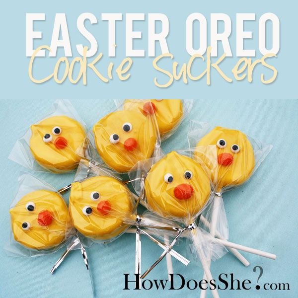Easter Oreo Cookie Suckers