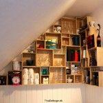 ide til indretning under skråvægge der giver meget plads til opbevaring