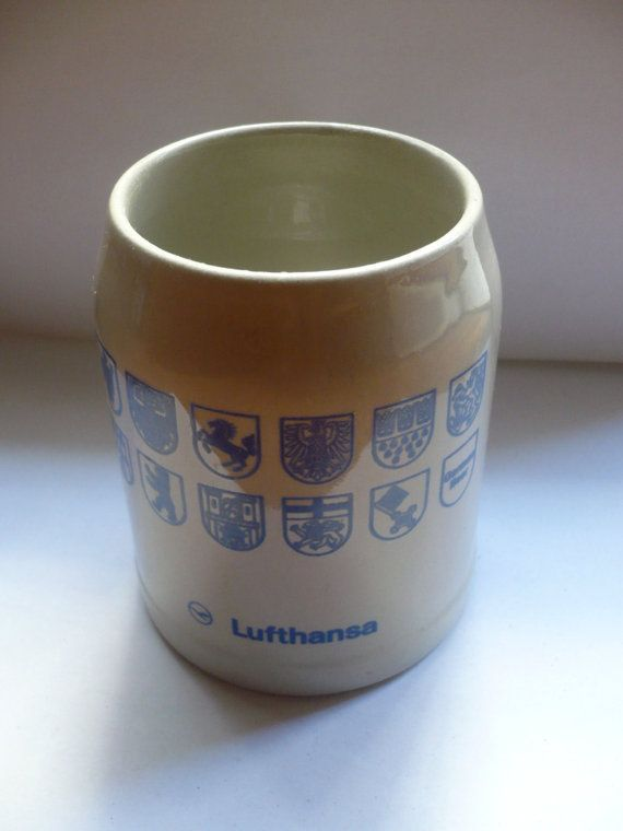 Vintage cup lufthansa airlines Germany by bluestyle on Etsy