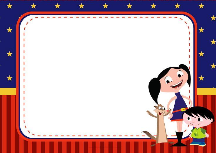 Convite para festa infantil Show da Luna