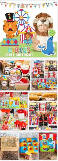 Circus 1st Birthday Party Ideas