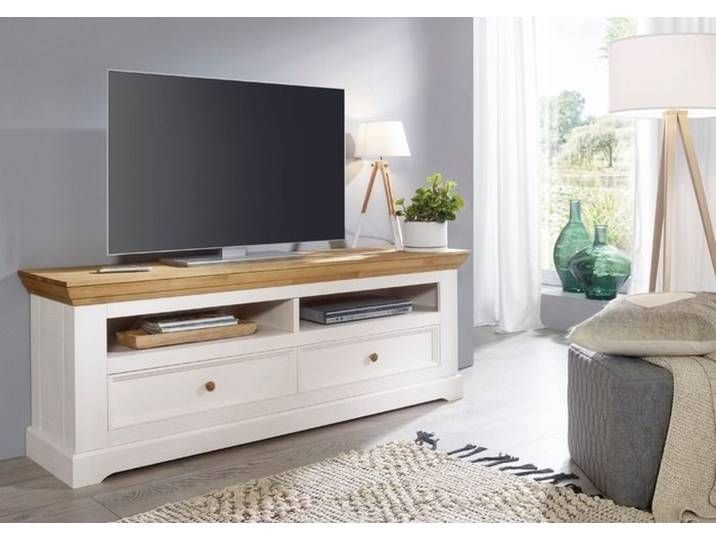 Tv Lowboard Minnesota Weiss Holz In 2020 Furniture Diy