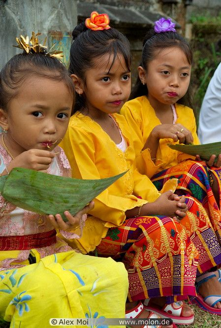 The kids in temple dress are just too cute!  Bali, Indonesia
