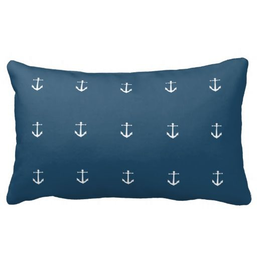 Nautical themed pillow with anchors