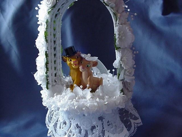 Lion King Wedding Cake Topper Young Simba Nala By Cinhol On Etsy