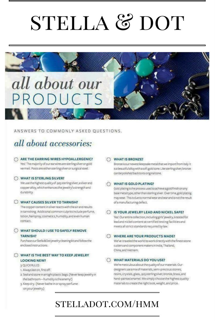 Here is what we stand behind at stella & dot. Fabulous jewelry at a fabulous cost!! With our versatility you can't go wrong, it's like buying a few necklaces for one!!