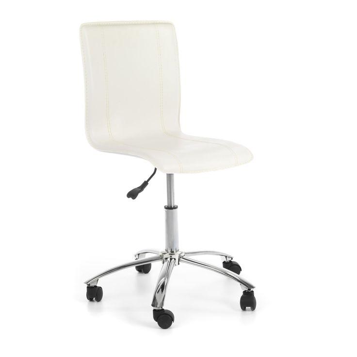 Chaise dactylo Blanc - Heka - Les fauteuils et chaises à roulettes - Les sièges et fauteuils - Bureau - Décoration d'intérieur - Alinéa