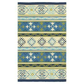 """Showcasing a multicolored Southwestern-inspired motif, this hand-hooked indoor/outdoor rug effortlessly anchors your living room seating group or dining set.  Product: RugConstruction Material: 100% Polypropylene Color: MultiFeatures:  Machine-made0.39"""" Pile heightFade and stain resistant Suitable for indoor and outdoor use Note: Please be aware that actual colors may vary from those shown on your screen. Accent rugs may also not show the entire pattern that the corresponding area rugs ..."""