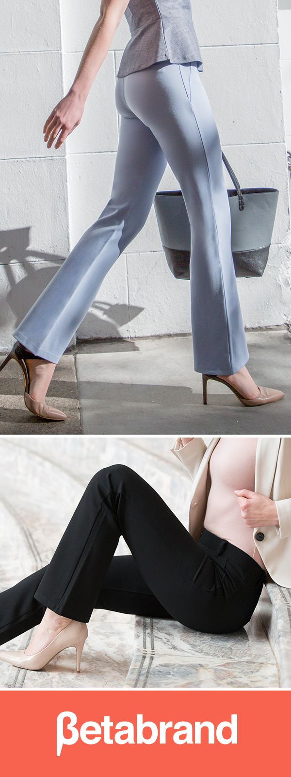 Thousands of women agree: Dress Pant Yoga Pants are the most comfortable pants you'll ever wear to work.