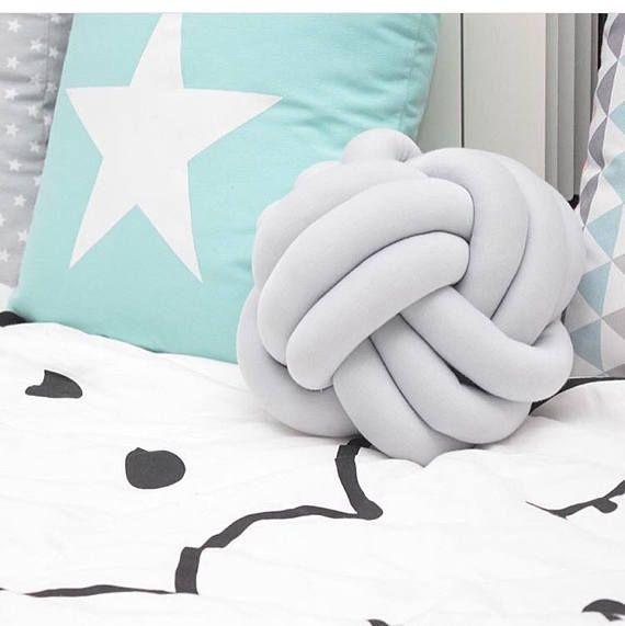 Nudo de almohada color de moda gris gris nudo almohada cojín para sofá decorativo almohada decorativo celta anudada moderno sofá lanzar a mano cama píldora