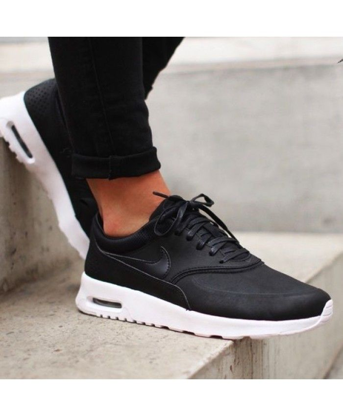 ede4e2e225a2 Nike Air Max Thea Premium Black White Trainers Sale UK