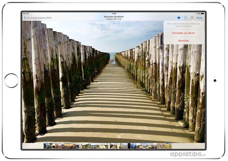 Foto's verwijderen uit een album of iCloud-fotobibliotheek  - appletips