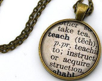 18 best teaching credential party images on pinterest graduation teach dictionary definition teacher necklace mozeypictures Gallery