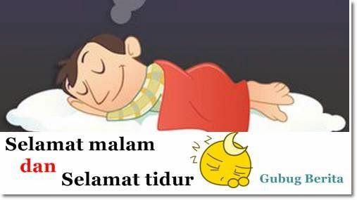 selamat malam dan selamat beristirahat  gambar lucu