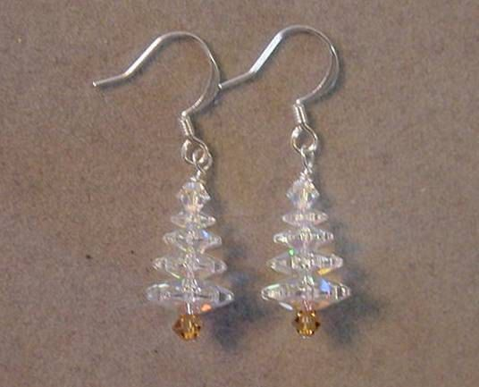 Christmas Jewelry Earrings - CHRISTMAS TREE Earrings Swarovski Crystal AB - Choice Silver or Gold by magiccloset on Etsy
