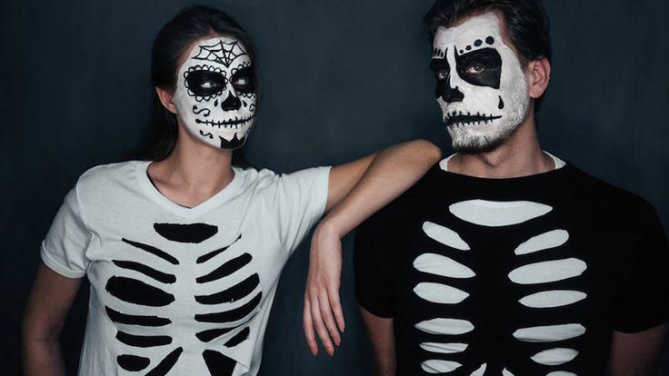 déguisement Halloween homme / femme / couple- crâne mexicain Calavera Plus