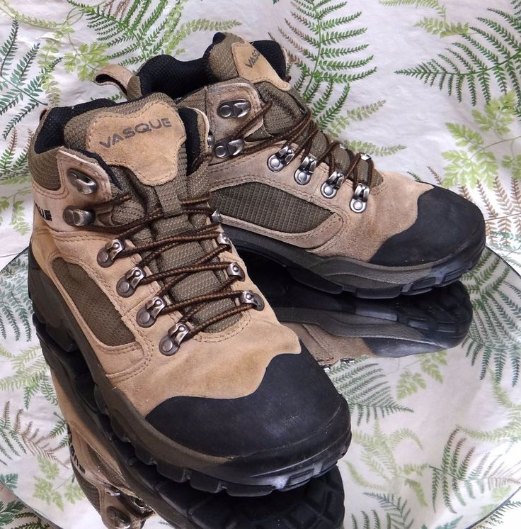 VASQUE BROWN LEATHER LACED HIKING TRAIL WALKING BOOTS WORK SHOES WOMENS SZ 6.5 M #Vasque #WalkingHikingTrail