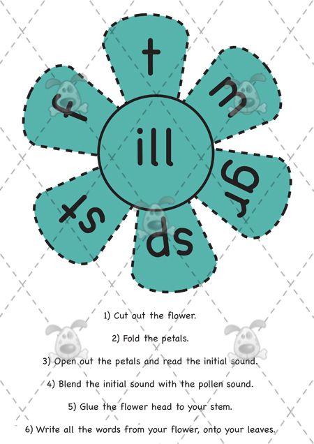 Teacher's Pet - Flower Families Pack 3 - Premium Printable Game / Activity - EYFS, KS1, KS2, phonics, sounds, blends, blending, flowers, let...