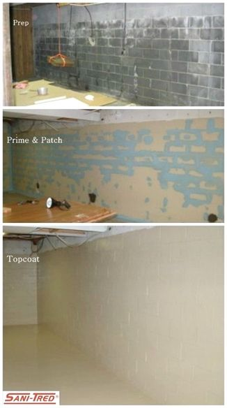 sani tred is a basement waterproofing sealing system which retains rh pinterest com