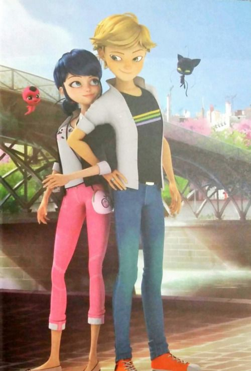 I just love the way hes looking at her the way Cat Noir would but as Adrien♡