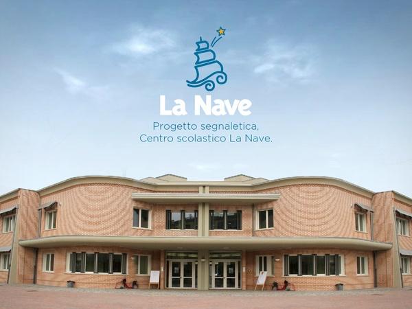 La Nave School centre - The Signage System by Michelangelo Melandri , via Behance