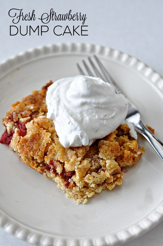Fresh Strawberry Dump Cake -- The 30 Best Strawberry Cake Recipes on the Internet