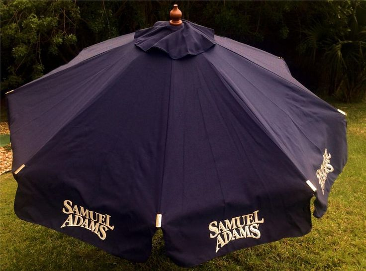 Sam Samuel Adams Beer Pool Beach Patio Umbrella Large 7 U0027 Tall New In Box!