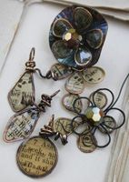 Deryn Mentock's Resin Paper Wire Forms Class - Sun pm Aug 6. I've been dying to learn resin. Cannot wait!