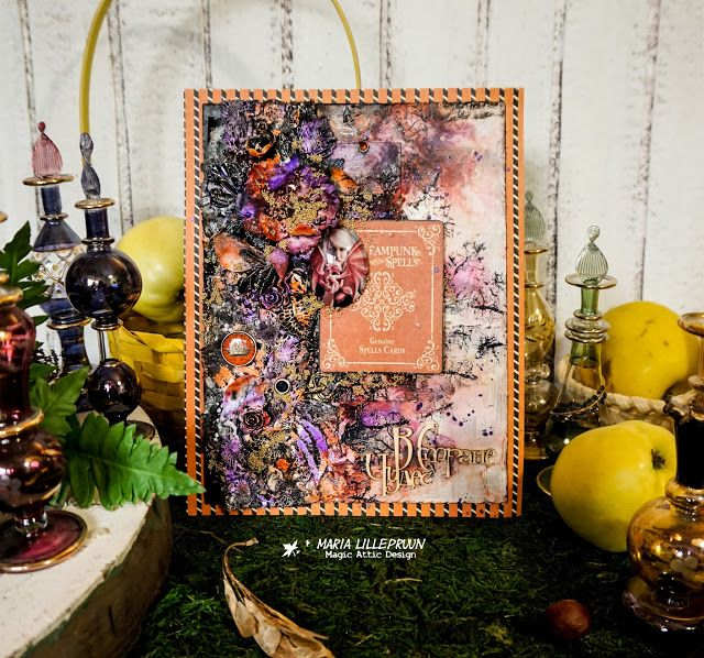 Mixed media Helloween layout by Maria Lillepruun