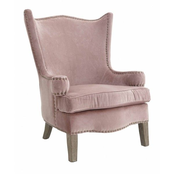 High Back Armchair In Pink ($800) ❤ Liked On Polyvore Featuring Home,  Furniture