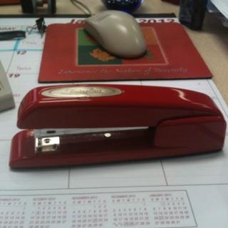 red Swingline stapler - always makes me smile
