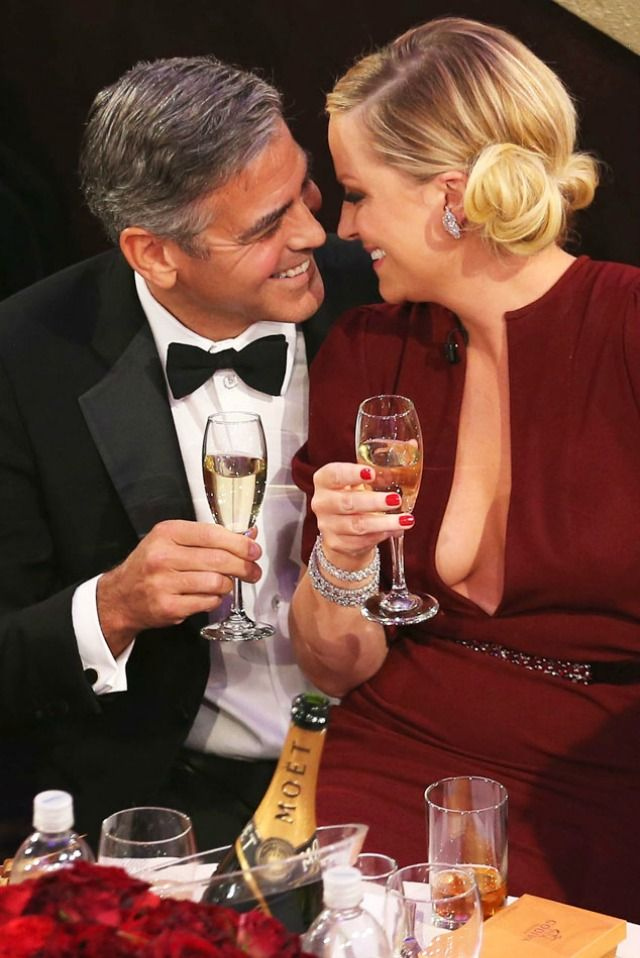 Mr. George Clooney,(looking great I might add) and his soon to be wife I believe!
