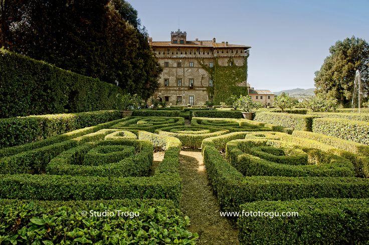 Italian garden Castello Ruspoli Vignanello, Viterbo, Italy.